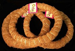 3 Pack, 14 in. Prefinished Coco Fiber Wrapped Biodegradable Floral Craft Ring / Wreath Form, for Arts and Craft