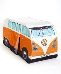 VW Volkswagen T1 Camper Van Kids Pop-Up Play Tent - Orange - Multiple Color Options Available