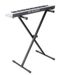 "Gator RI-KEYX-1 Tubular ""X"" style keyboard stand Compact design with 4 position height adjustment"