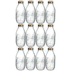 Bormioli Rocco 1 Quart Glass Bottle - Set of 4