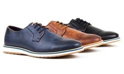 Harrison Men's Casual Derby Shoe: Tan - 12