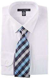 Ivy Crew Mens White Dress Shirt & Tie Set 16'' Neck White