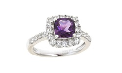 Sterling Silver 1.50 CTTW Gemstone Ring - Amethyst/ Silver - Size: 7