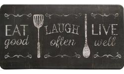 Bloomfield Oversized 20x39 Anti-Fatigue Kitchen Mat - Eat, Laugh, Live