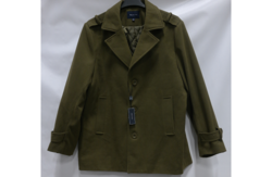 Braveman Men's Wool Blend Single Breasted Coat - Olive - Size: 2XL