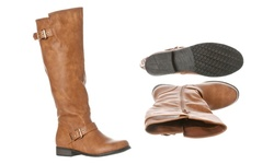 Riverberry Women's Mia Knee-High Riding Boots - Tan - Size: 8.5