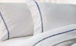 Elle 4-Piece 1000TC Egyptian Cotton-Rich Sheet Set - Cobalt - Size: King