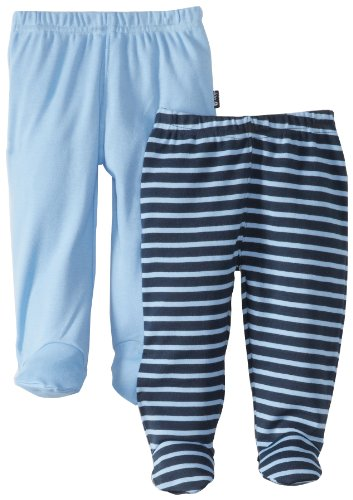 JoJo Maman Bebe Baby Footed Leggings - Navy/Blue Stripe - Sz 3-6M - 2Pk - Check Back Soon - BLINQ