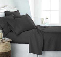 Microfiber Bed Sheets Set: Full/Black 1255863