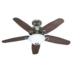 "Hunter 52""  5 Blade Ceiling Fan with Light and Remote - Antique Pewter"