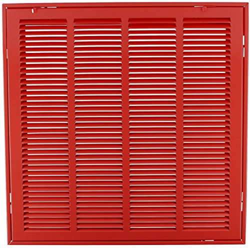 "hvac premium 20"" x 20"" steel return air filter grille - red - check ..."