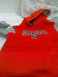 Boys' Syracuse S Printed Fleece Hooded Sweatshirt - Orange/Grey
