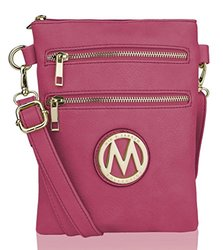 e13fb90699 ... Mkf Collection Women s Millennial Arabelle Crossbody Shoulder Handbag   Fuchsia ...