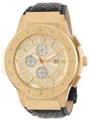 JBW Men's Saxon Gold Braided Leather Diamond Watch - Gold/Black