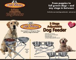 Pet Store 3-Stage Adjustable Pet Feeder 3738000