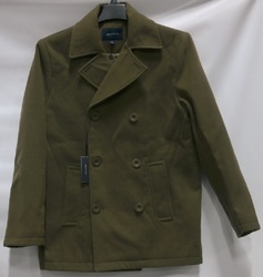 Braveman Men's Double Breasted Wool Blend Coat - Olive - Size: M