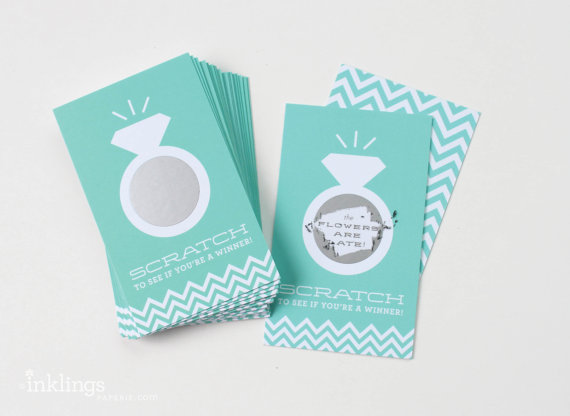 horizon scratch off bridal wedding shower game