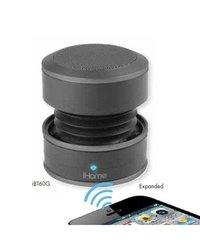 iHOME Bluetooth Mini Speaker System, Black IBT60BX