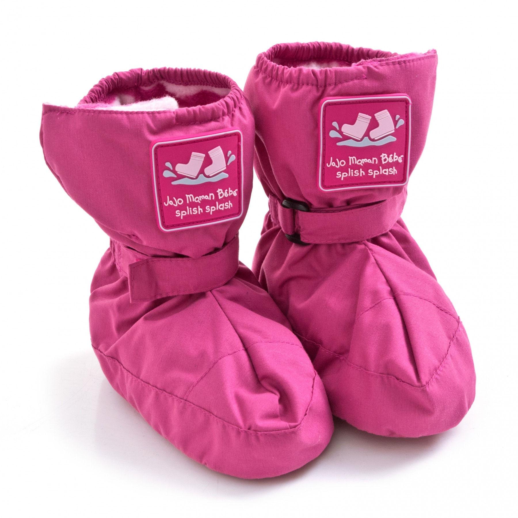 ba0e47bf6b296 ... JoJo Maman Bebe Girl s Fleece Lined Booties - Fuchsia - Size  0-6  Months ...