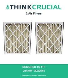 2 Lennox 20x25x5 Merv 8 Replacement Air Filter Fits X6673 1265189