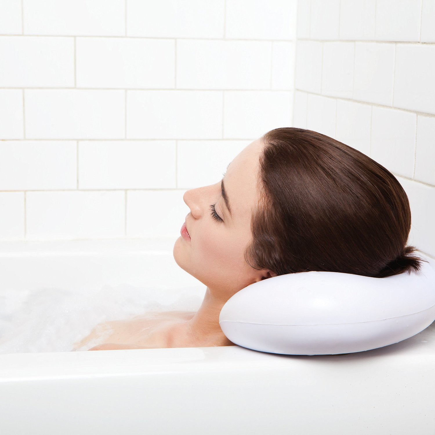 Simply Essentials Best Bath Pillow with Suction Cups - White ...