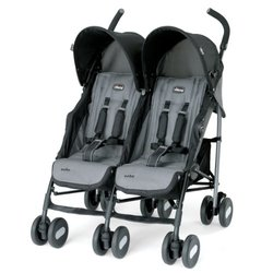Chicco Echo Twin Stroller - Coal (HD-322)