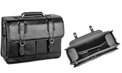 McKlein Unisex Beverly Flapover Laptop Case - Black