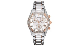 Bulova Women's Chronograph Watch Two-Tone Diamond Accent