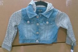 Genuine Kids from OshKosh Toddler Heart Jean Jacket - Blue - Size: 2T