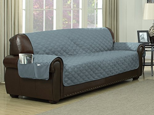 Reversible Ashford Water-Resistant Microfiber Sofa Cover ...