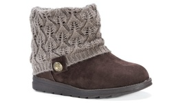 Muk Luks Women's Patti Boots - Medium Brown - Size: 8