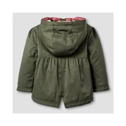 1c3878e05 Cat & Jack Baby Girls' Military Jacket w/ Sherpa Lining - Green - Sz ...