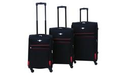 Rivolite 3-Piece Ultra Lightweight Spinner Luggage Set - Black