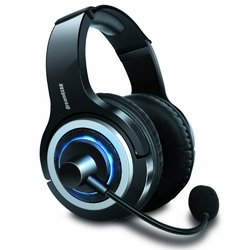 DreamGEAR Wired Gaming Headset for PlayStation 4 - Black-Blue