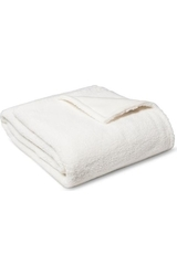 Room Esssentials Sherpa Blanket - Ivory - Twin Size
