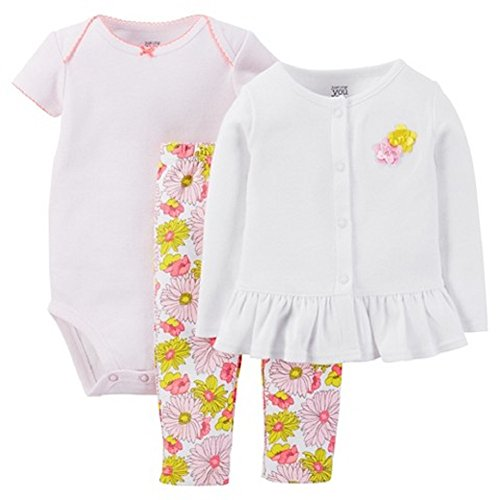 c4290ac84777 Carter s Just One You Baby Girls  Floral 3-Piece Pant Set - Pink (3 ...