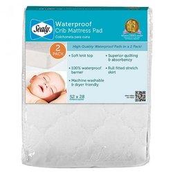Sealy Waterproof Crib Mattress Pad, 2-Pack ED008-QWX3