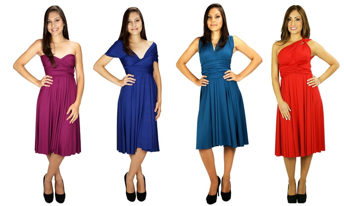 Plus Size Convertible Transformer Infinity Dress: Medium Length ...