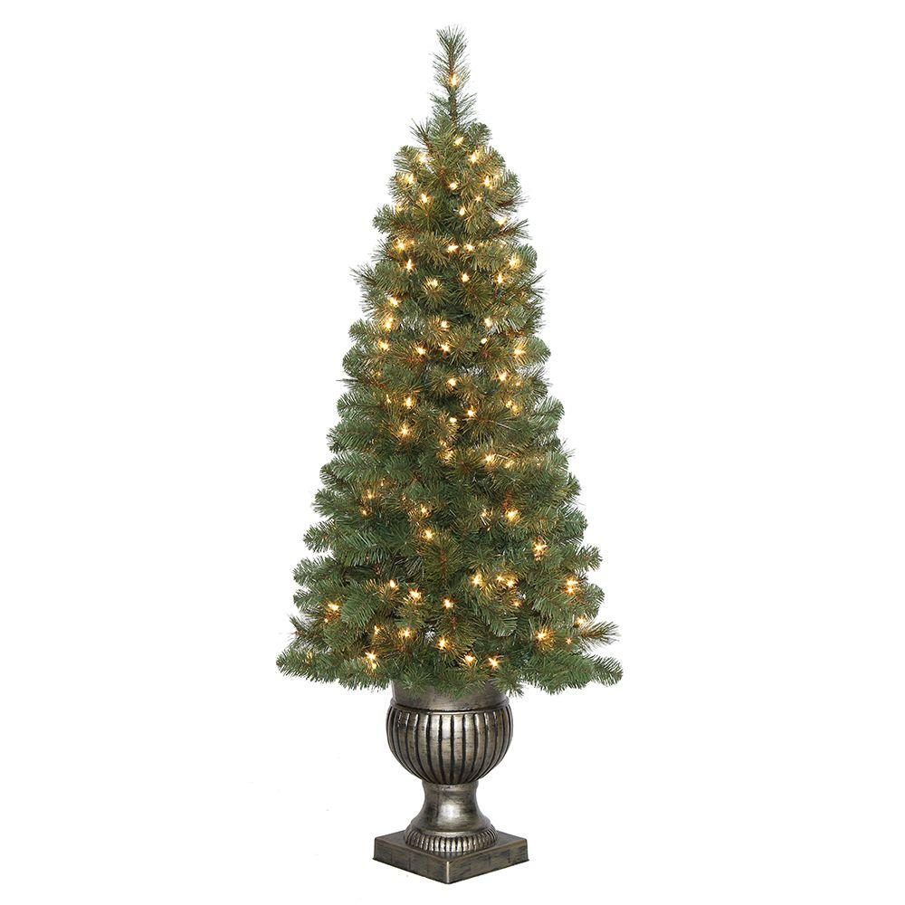 Artificial Christmas Tree Sizes.Home Pre Lit Led Wesley Pine Artificial Christmas Tree Size 4 5ft Check Back Soon