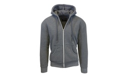 Harvic Men's Heavyweight Sherpa Hoodie - Charcoal & Charcoal - Size: XL 1209636