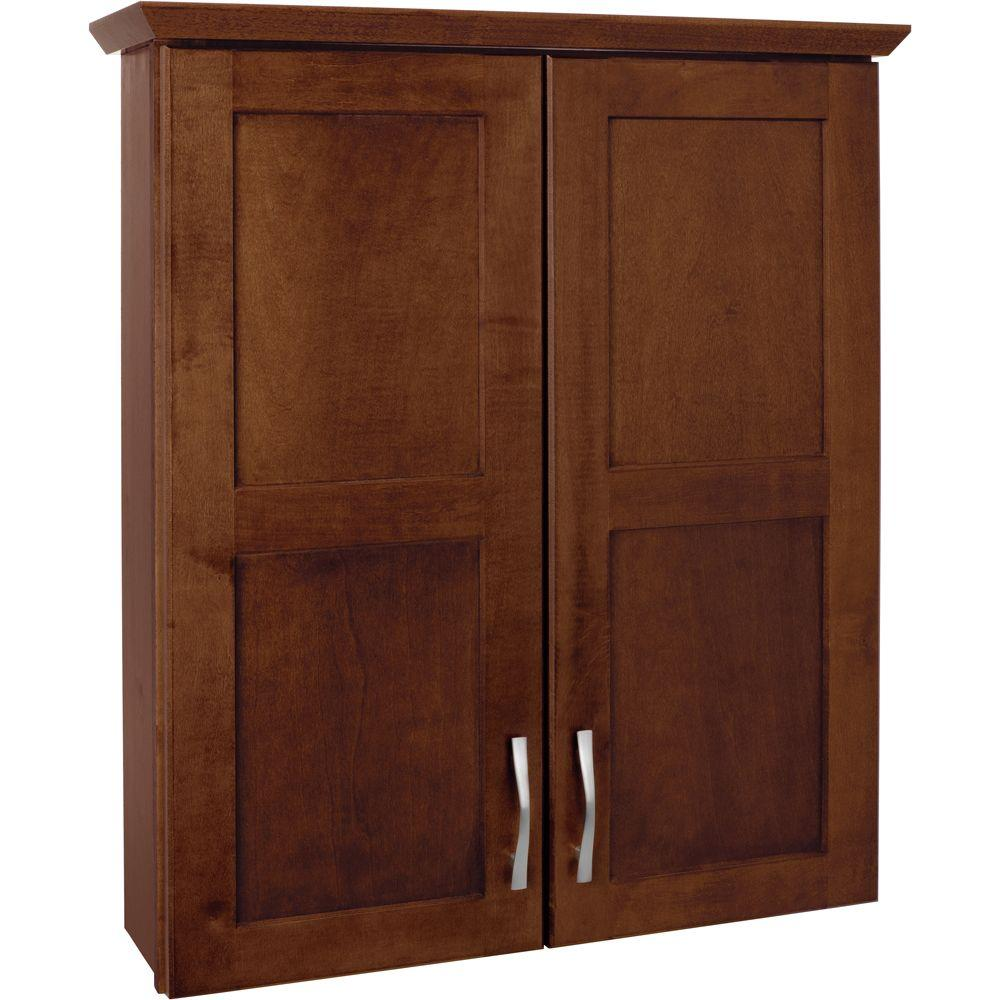 Bath Storage Cabinet   Cognac American Classics Casual 25 1/2 In. Bath  Storage Cabinet   Cognac ...