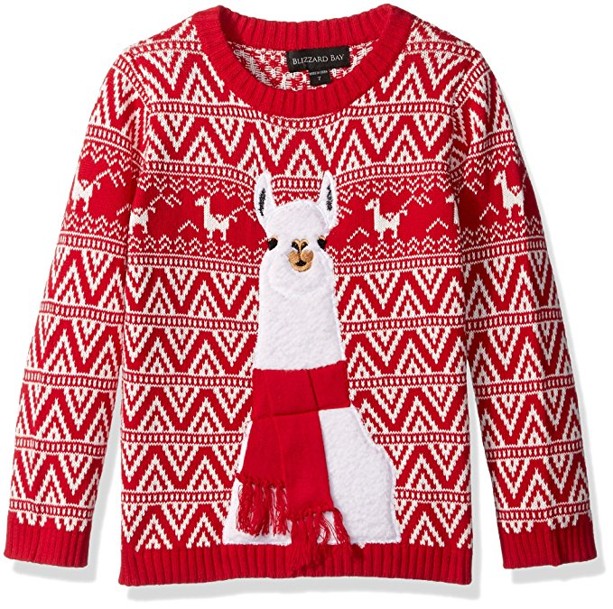 33degrees Mens Ugly Christmas Llama Sweater Red Size Xl