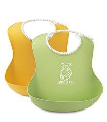 Babybjorn Soft Bib 2 Pack, Green/Yellow (046504US)