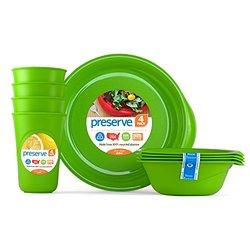 Preserve  Everyday Tableware Set Apple Green -Piece Set 20, 12 1292856