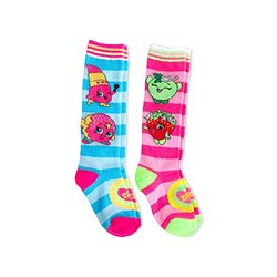 Shopkins Girls' Knee Highs Socks - 2 Pack (7-9) 1293778
