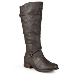 Journee Collection Harley Women's Extra Wide Calf Boots - Brown - Size: 11