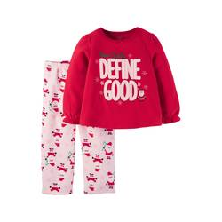 a223a9854 Carter s Toddler Girls  Fleece Pajama Set - Red - Size   18 M ...