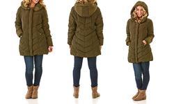 Steve Madden Women's Quilted Coat - Olive - Size: Medium