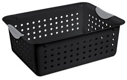 Sterilite 12-Pack Ultra Basket - Black - Size: Medium (16249006)