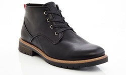 Marco Vitale Men's Lace Up Ankle Chooka Casual Boots - Black - Size: 9.5